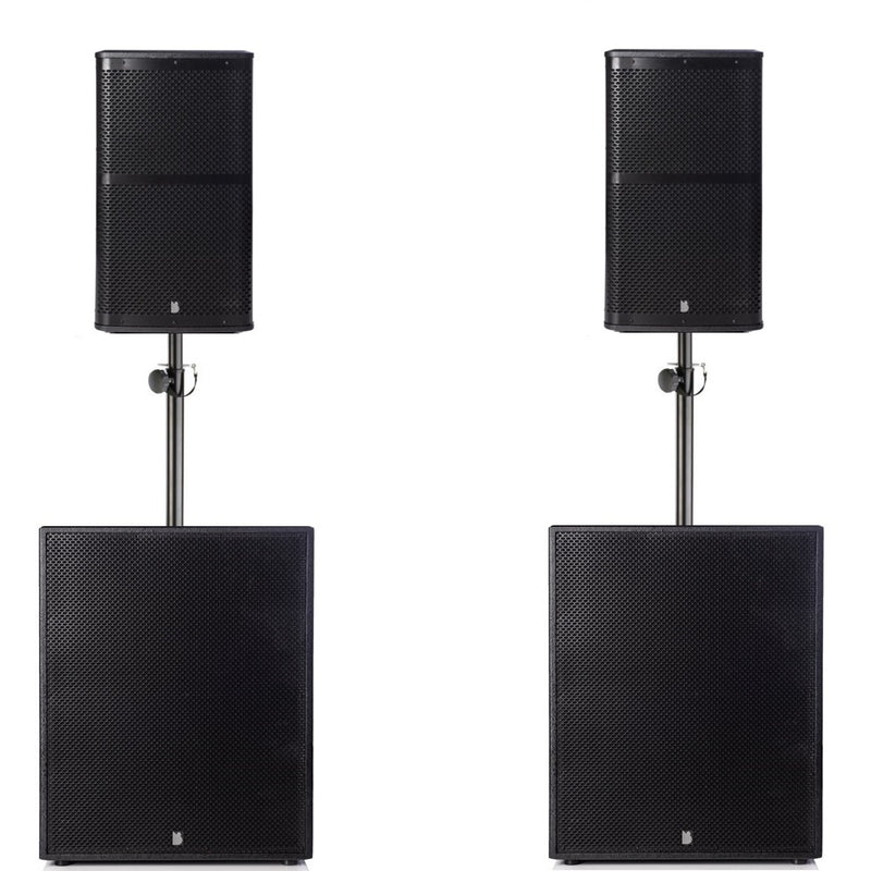 "Big Gig Rig 12 - Passive 1800w RMS 10"" Tops and 15"" Subwoofer PA System"