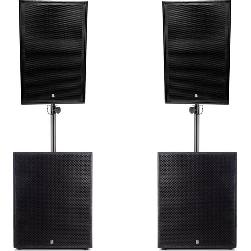 "Big Gig Rig 18 - Passive 2200w RMS 15"" Tops and 15"" Subwoofer PA System"