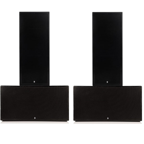 "Big Gig Rig 1 - Passive 6400w RMS Twin 15"" Tops and Twin 18"" Subwoofer PA System"