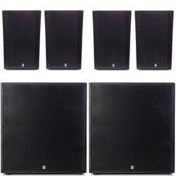 "Big Gig Rig 24 - Passive 3200w RMS 4 10"" Tops And 18"" Subwoofer PA System (1)"