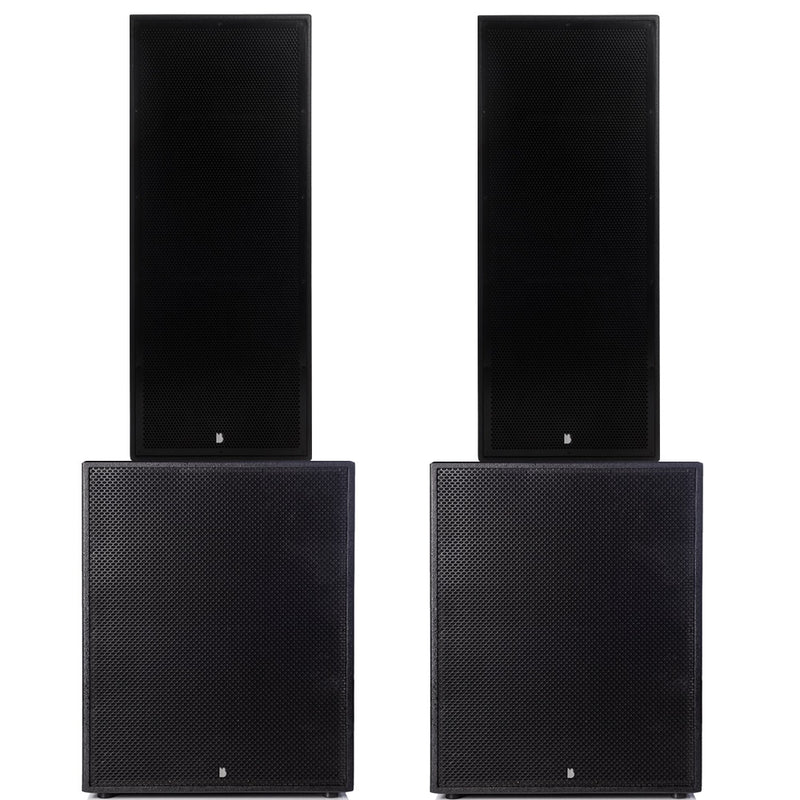 "Big Gig Rig 5 - Passive 5400w RMS Twin 15"" Tops and 21"" Subwoofer PA System"