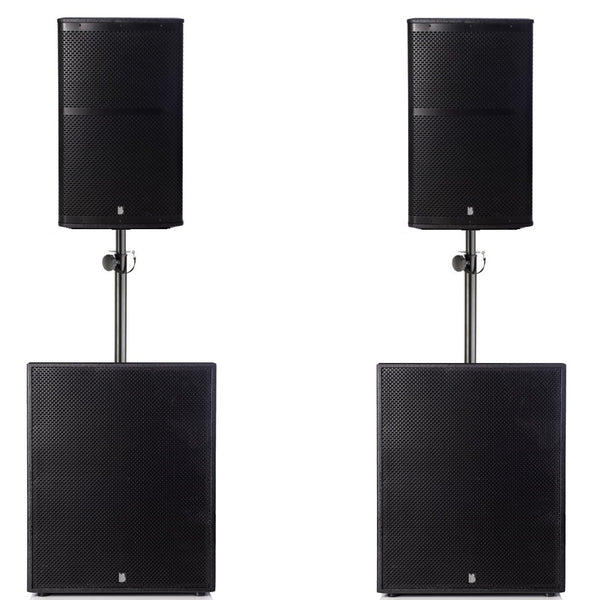 "Big Gig Rig 6 - Passive 2200w RMS 12"" Tops and 15"" Subwoofer PA System"