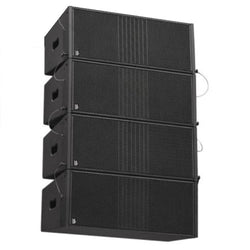 "Line Array Set Delta Dual 8"" Passive Array 4 Box Set - Including Flight Case (1)"