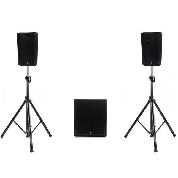 "Big Gig Rig 46 - Ultra Compact Active PA System 1100w RMS 8"" Tops and 12"" Sub With Bluetooth"