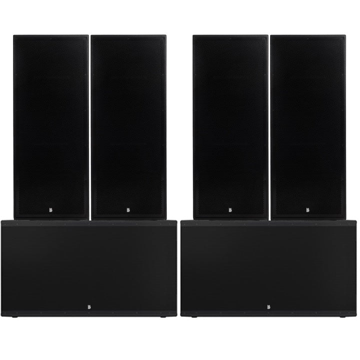 "Big Gig Rig 8 - Passive 10800w RMS Twin 15"" Tops and Twin 21"" Subwoofer PA System"