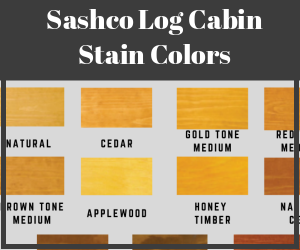 Sashco Log Cabin Stain Colors