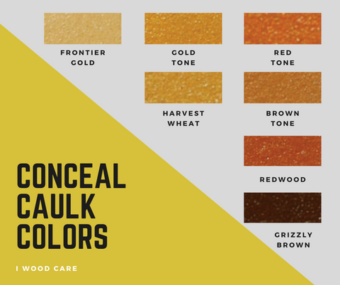conceal caulk colors chart