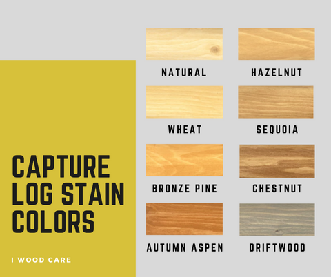 capture log stain colors chart
