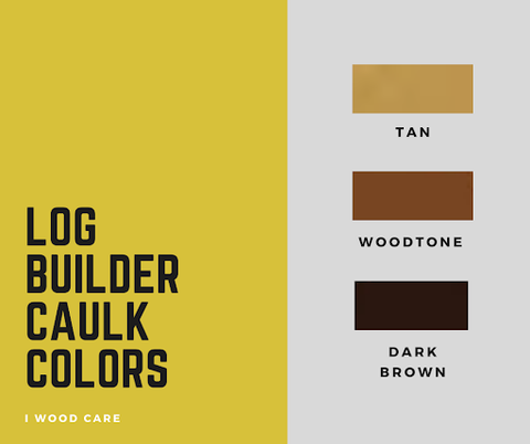 Log builder caulk colors chart