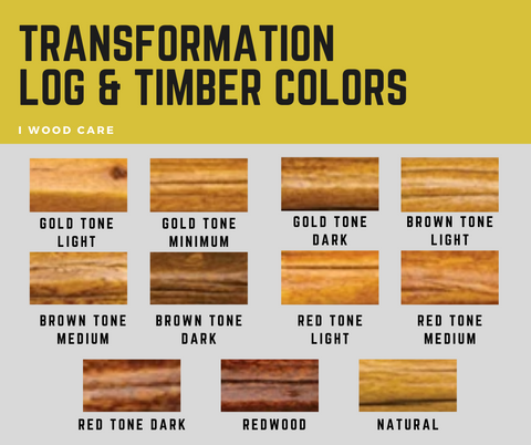transformation log and timber colors
