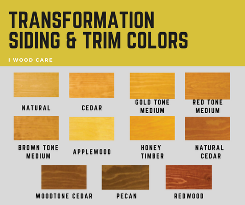 Transformation Siding and Trim colors chart