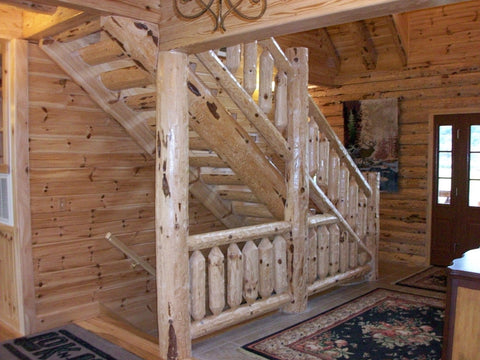 Log Stair Materials (Red Pine)