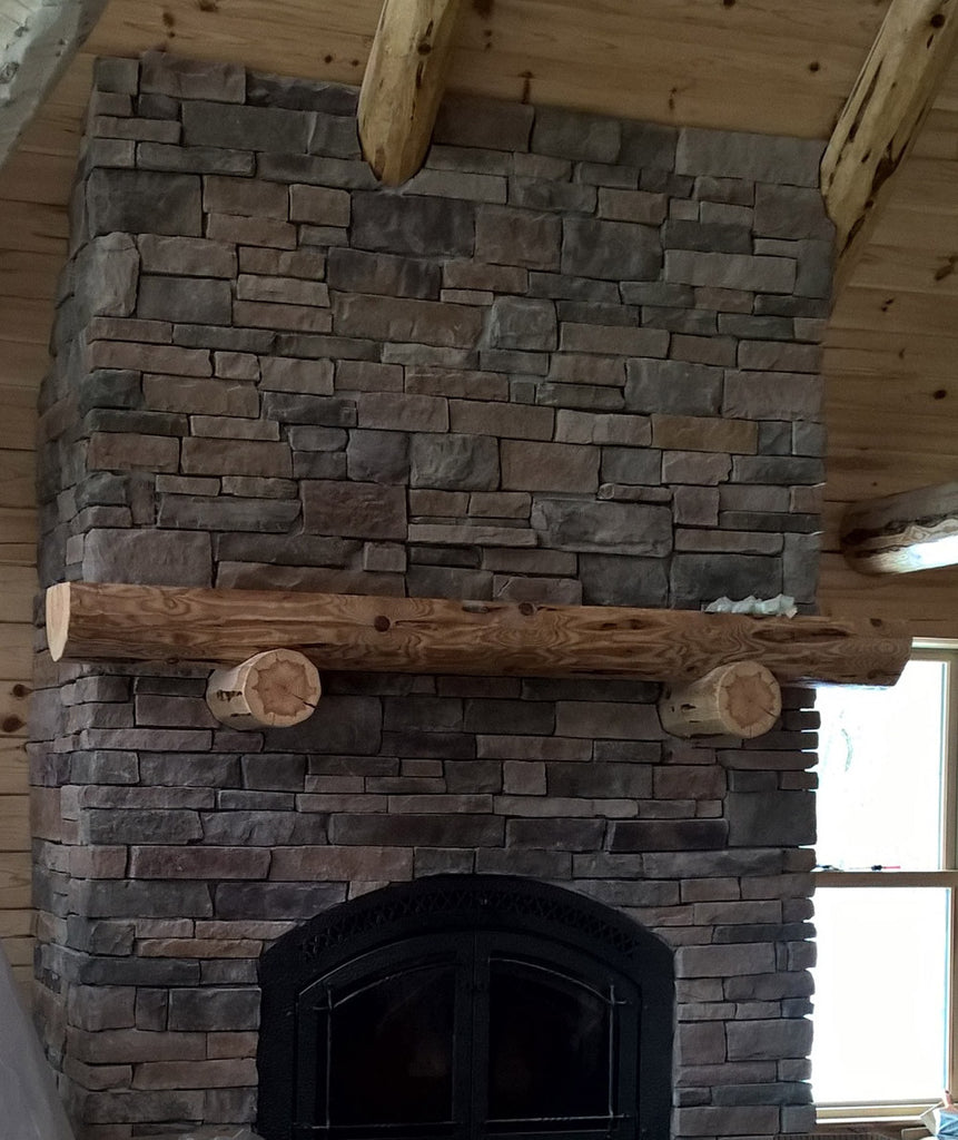 decorative log fireplace mantels red pine i wood care