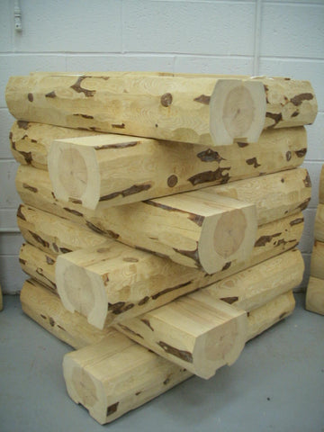 "Wall Logs Available in 8"", 10"", and 12 Lengths (Red Pine)"