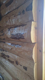 log siding on house