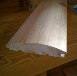 Smooth log siding