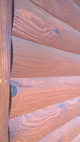 stained log siding smooth