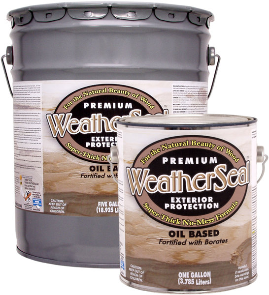 Weatherseal Stain  (Also For Decks)  Free Shipping 5 Gallon Pails Only.  Have to call to get this offer.