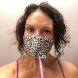 Happy Hour Reusable Face Mask in Cheetah Charcoal