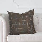 "Cambridge Plaid Slate 20"" Pillow"