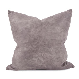 "Rancher Oyster 20"" Faux Leather Pillow"