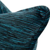 "Cascade Indigo Blue Chenille 20"" Pillow"