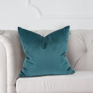 "Chantel Jasper 20"" Velvet Pillow with Down Insert"