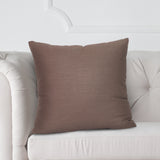 "Linen Slub Truffle 20"" Pillow"