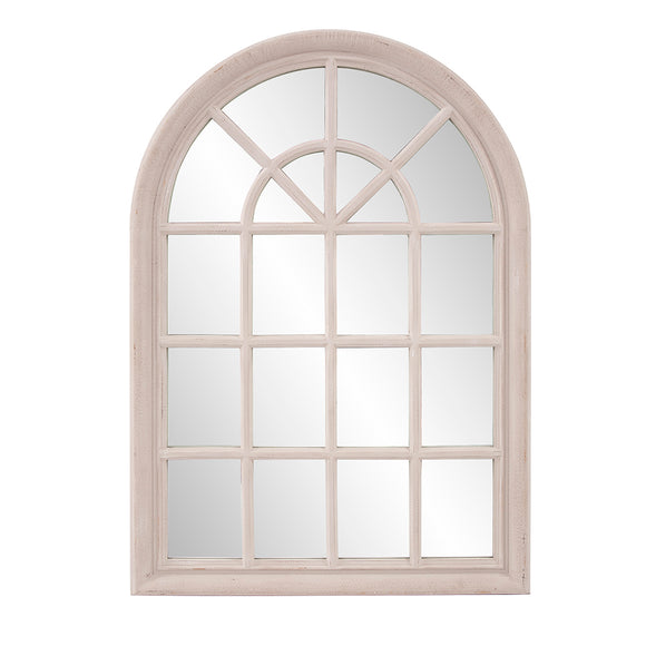 Marley Forest Porte Arched Windowpane Mirror
