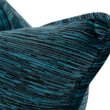 "Cascade Indigo Blue Chenille 24"" Pillow"