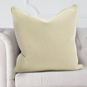 "Beach Club Palm Green 24"" Feather Down Pillow"