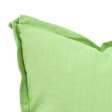 "Linen Slub Grass Green 24"" Pillow"