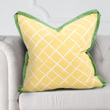 "Cove End Lattice Daffodil Yellow Reversible 24"" Pillow"