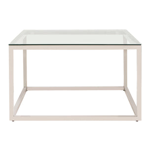 Square Stainless Steel Coffee Table