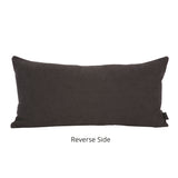 Cambridge Plaid Charcoal Gray Kidney Pillow