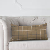 Cambridge Plaid Moss Green Kidney Pillow