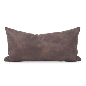 Rancher Stone Kidney Faux Leather  Pillow