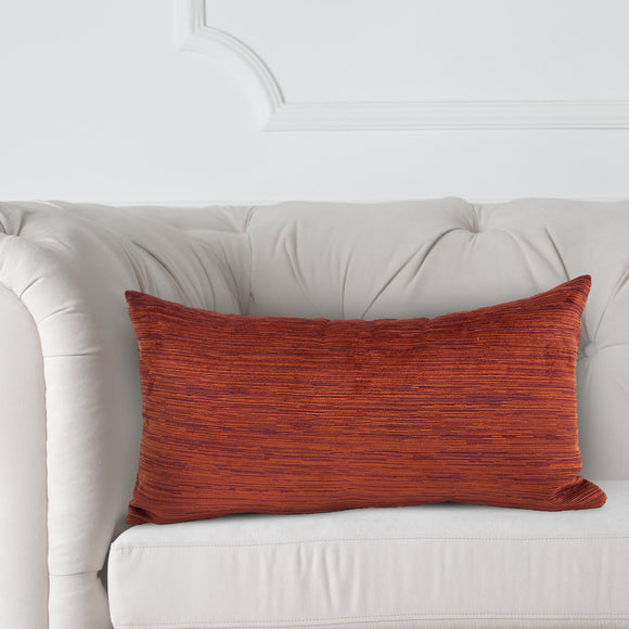 Cascade Canyon Red Chenille Kidney Pillow