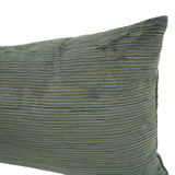 Reina Teal Kidney Stripe Pillow