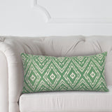 Ikat Malachite Kidney Pillow