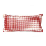 Square Pegs Cherry Red Kidney Pillow