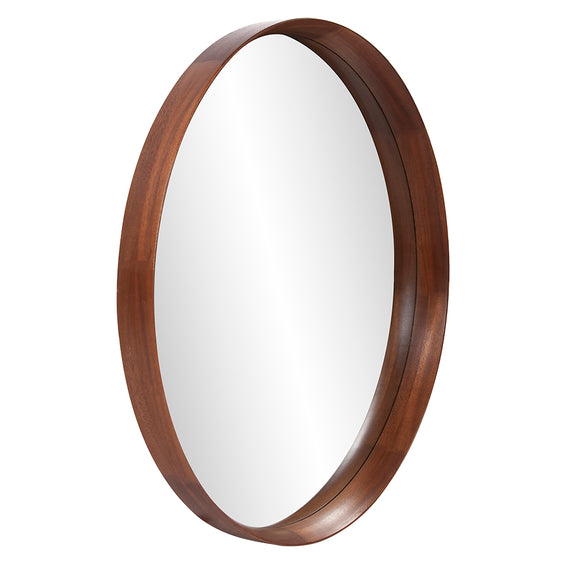 Marley Forest Argen Round Wood Mirror