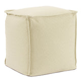 Beach Club Palm Square Pouf Ottoman
