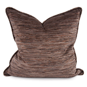 "Cascade Slate Brown Chenille 24"" Pillow"