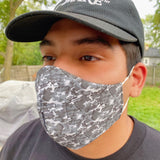 Happy Hour Reusable Face Mask in Camo Charcoal