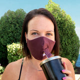 Happy Hour Reusable Face Mask in Titan Purple Eggplant