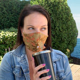 Happy Hour Reusable Face Mask in Linden Autumn