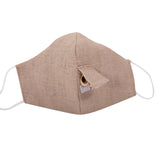 Happy Hour Reusable Face Mask in Natural Linen