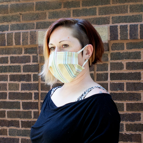 Reusable Face Mask in Summer Stripe