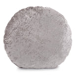 "Amaron Cement Gray 18"" Round Crushed Velvet Pillow"